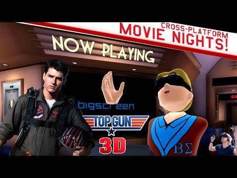 BIGSCREEN VR MOVIE NIGHTS! TOP GUN 3D! | Round Table Chat W/Founder Darshan Shankar