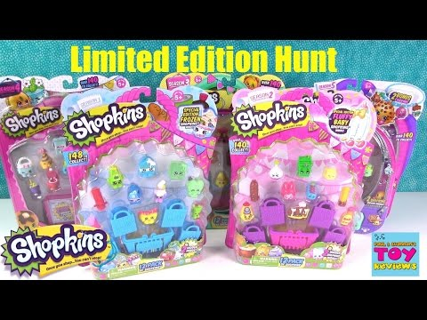 Shopkins Limited Edition 12 Pack Hunt Season 1 2 3 4 5 Unboxing | PSToyReviews