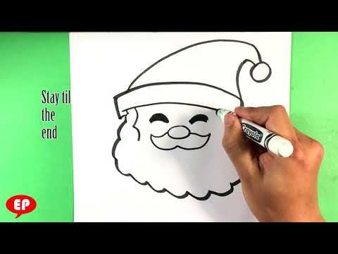 How to Draw Santa Head - Christmas Drawings Step by Step - Easy Pictures to Draw