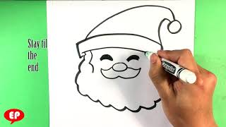 how to draw santa head christmas drawings step by step easy pictures to draw youtube how to draw santa head christmas drawings step by step easy pictures to draw