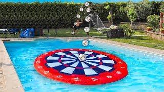 🎯 ACCURACY FOOTBALL CHALLENGE in PISCINA! w/Fius Gamer, Ohm e Tatino