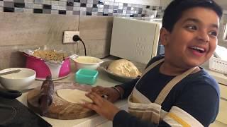 I am learning how to make roties Punjabi Food Cartoon for kids