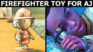 Tenn Gives AJ a Firefighter Toy - The Walking Dead Final Season 4 Episode 2 (Telltale Series)