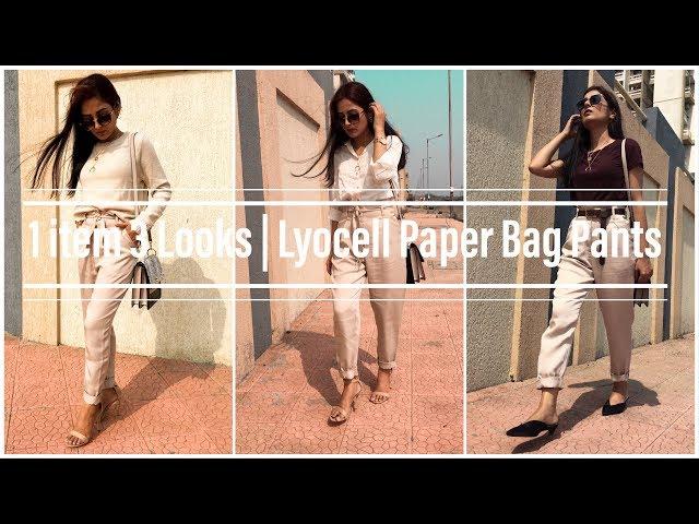 1 Item 3 Looks | Lyocell Paperbag pants | Prity Singh