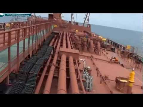 MERCHANT SHIP TANKER MAIN DECK TOUR