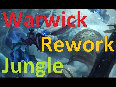 Warwick Rework Jungle Gameplay - Super Speed Gank Wolf
