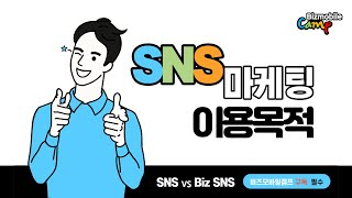 SNS 마케팅 이용목적 및 전략, 개인용 SNS와 비즈…