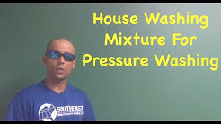 House Washing Mixture For Pressure Washing | Pressure Washer TV