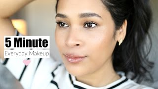 5 Minute Everyday Makeup Routine - MissLizHeart
