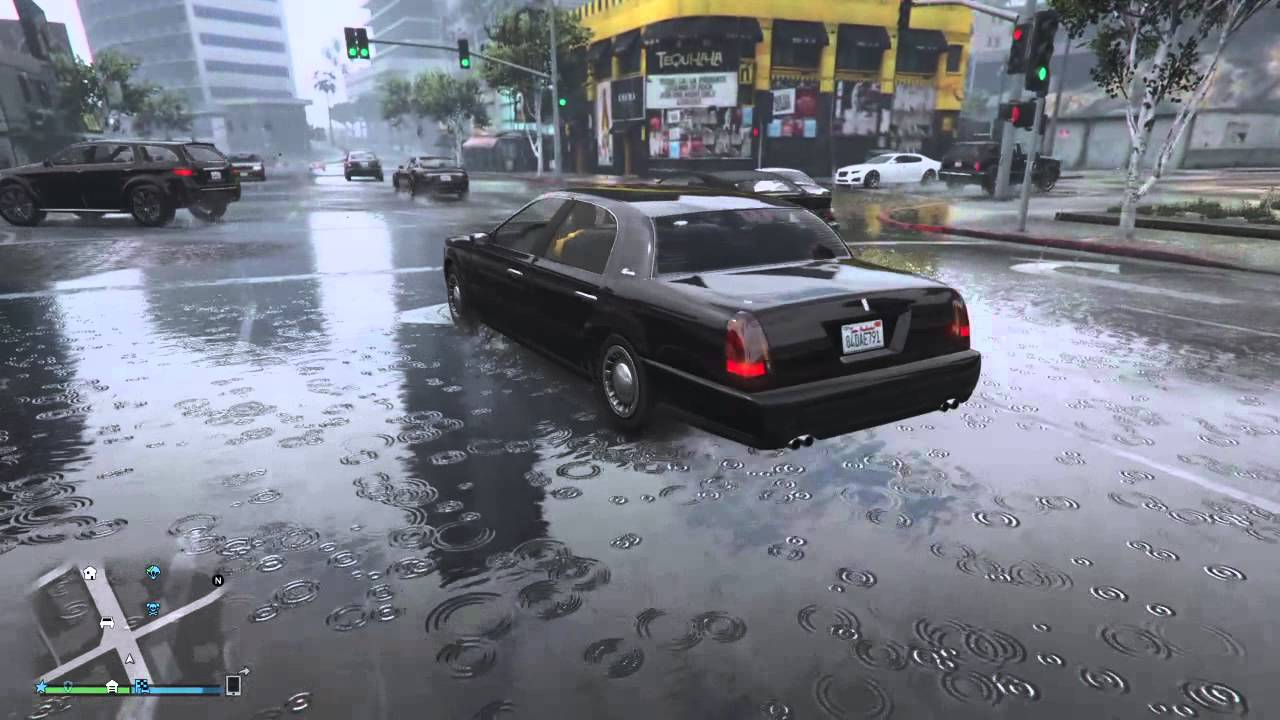 GTA V graphic mod [ Peds / Cars rain reflection ] - Grafikdesign