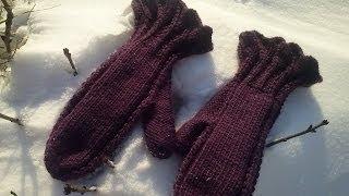Вязание для начинающих. Варежки с рюшем. Часть 3