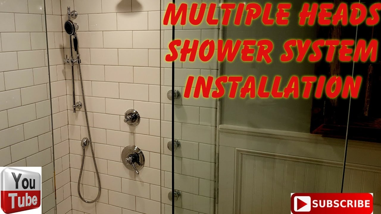 Multiple shower fixtures installation - YouTube