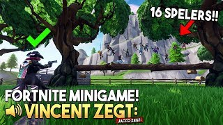VINCENT ZEGT 3.0 *MET 16 SPELERS* - Fortnite Creative (Nederlands)