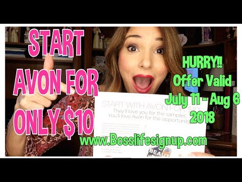 Start Selling AVON for only $10 Special Promotion Ends Aug 20, 2018