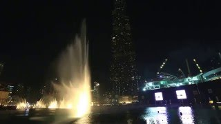 20160118 BURJ KHALIFA / DUBAI MALL, The Fountain Show (Arabic Song)  by CANON 5D MARK III