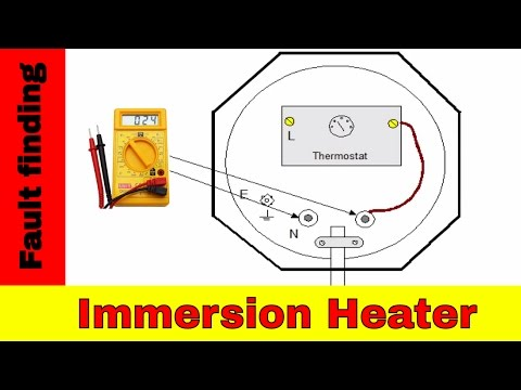 How to fix broken immersion heater. Electrical fault finding.