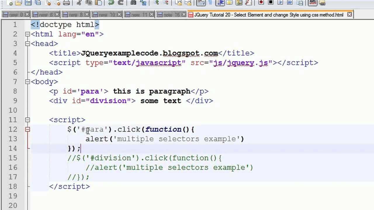 Jquery tutorial 34 dblclick or double click event handler with.