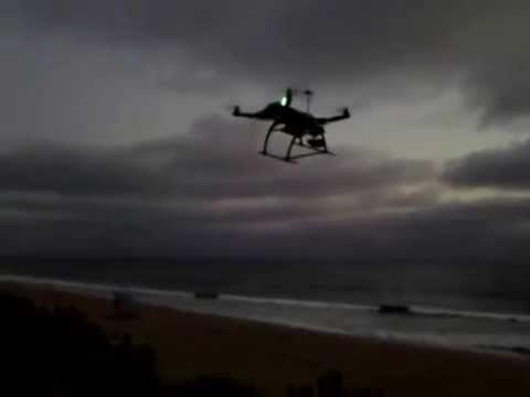 DRONE at Carlsbad Beach. Susan Schag filmed at Carlsbad Beach in Calif., Aug 18, 2014