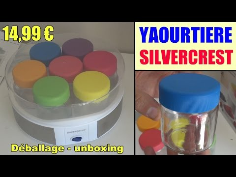 yaourtière-lidl-silvercrest-sjb-15-présentation-yogurt-maker-joghurtbereiter