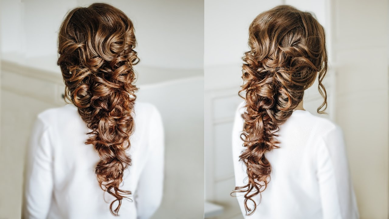 Voluminous Greek style Braid / Easy Hairstyle for long dark hair ...
