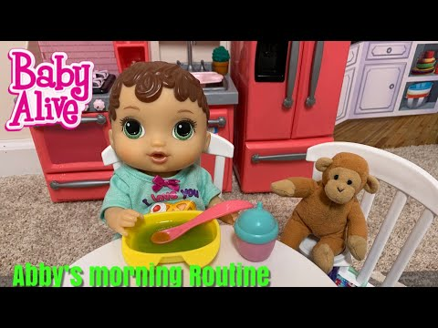 Baby Alive Abby Morning Routine baby alive videos