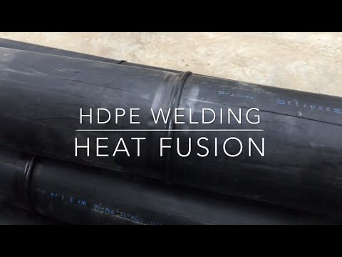 HDPE pipe welding using Heat Fusion - YouTube