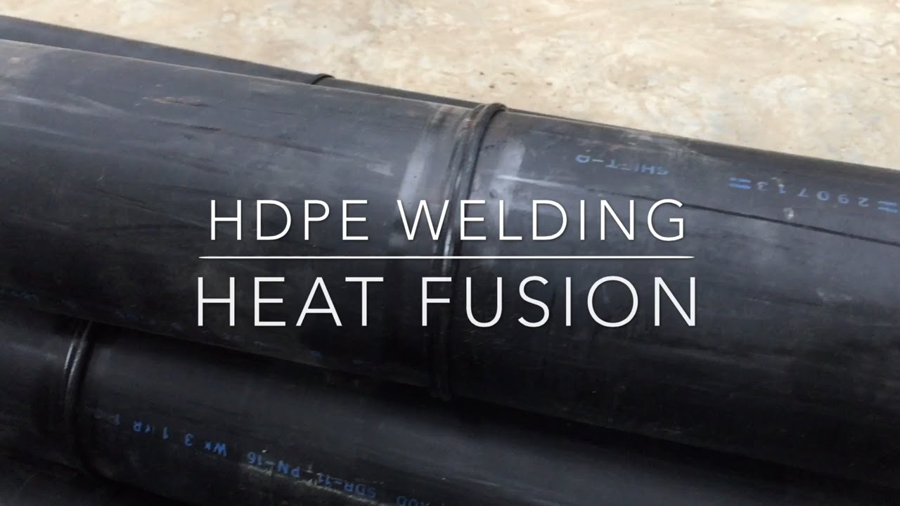 Hdpe Pipe Welding Using Heat Fusion Youtube