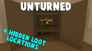 Unturned | Top 4 Secret Places To Hide Loot! (All Maps)