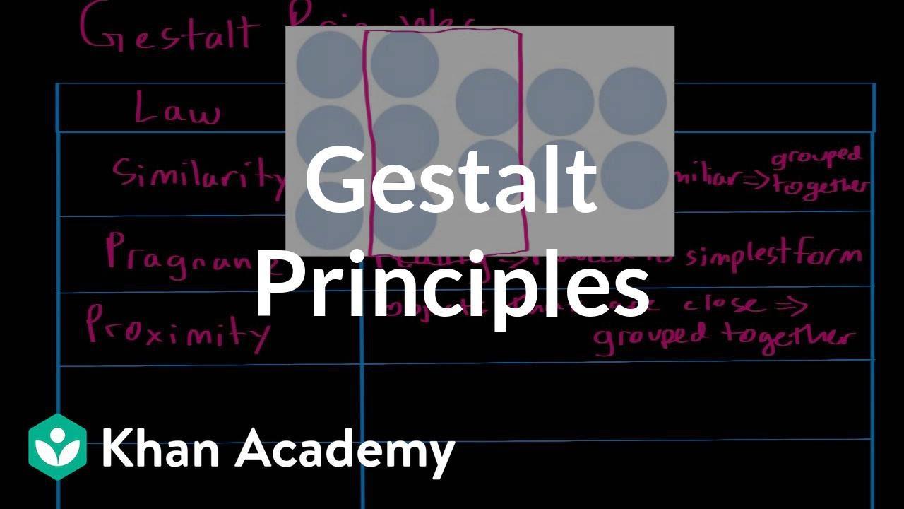 Gestalt principles (video) | Khan Academy