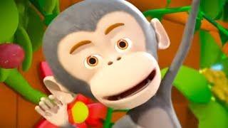Five Little Monkeys Jumping on the Bed   Kindergarten Nursery Rhymes by Little Treehouse