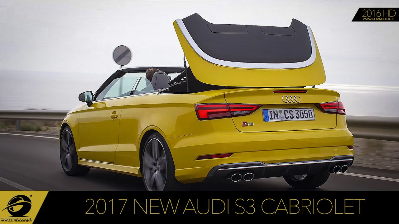 2017 new audi s3 cabriolet test drive exhaust sound. Black Bedroom Furniture Sets. Home Design Ideas