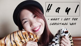 Haul + What I Got For Christmas 2014