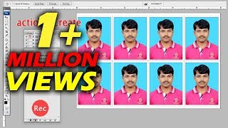 Photoshop tutorial in hindi, Step by step Process create action passport Size photo