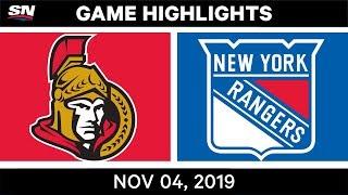 NHL Highlights   Senators vs. Rangers – Nov. 4, 2019