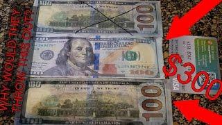 (CASH) FOUND HUNDRED DOLLAR BILLS DUMPSTER DIVING BANK!! (COUNTERFEIT)