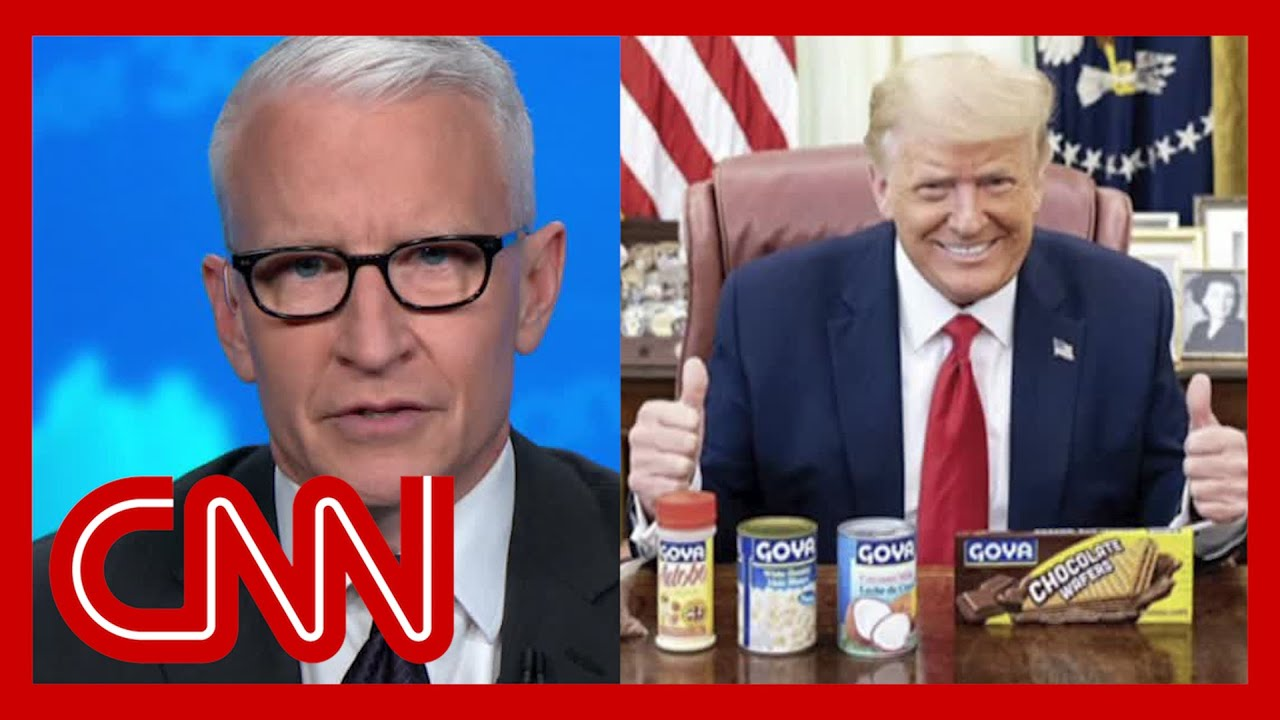 Cooper: Trump poses with can of beans while Covid-19 surges