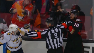Ducks & Predators' tensions boil over to end Game 5 with fisticuffs