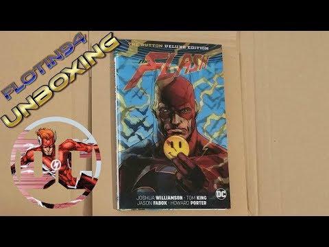batman/the-flash:-the-button-deluxe-edition-3d-cover-unboxing- -flotin