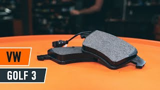 How to change Brake pad set disc brake GOLF III (1H1) - step-by-step video manual