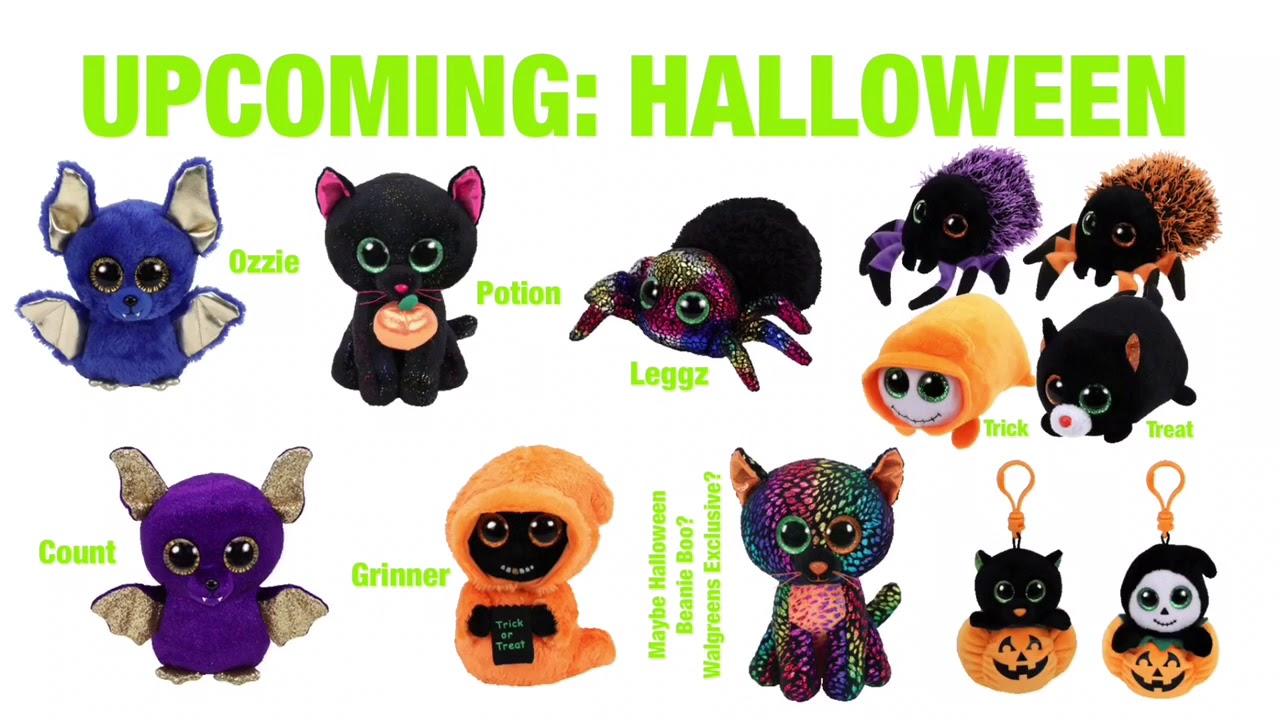 79f9313badf ty beanie boos creeper the halloween spider 6 new mwmt. skelton. diy ...