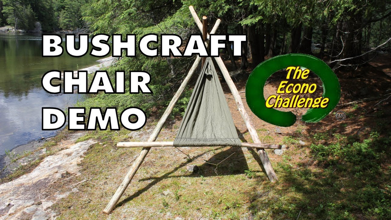 Bushcraft Chair Mode - Amazing Wilderness Camp / Hammock ...