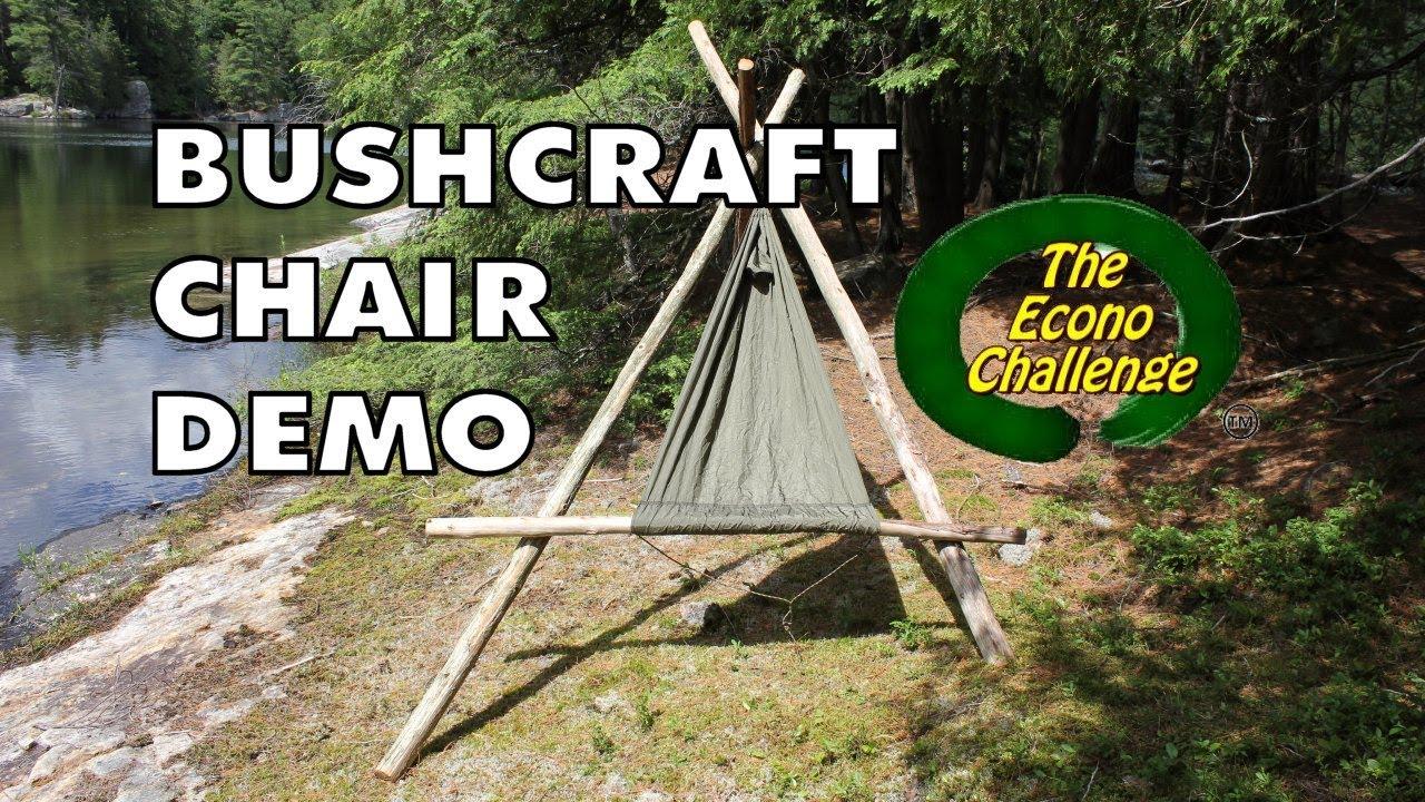 Bushcraft Chair Mode  Amazing Wilderness Camp  Hammock