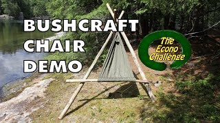 Bushcraft Chair Mode - Amazing Wilderness Camp / Hammock Chair