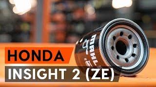 Kā nomainīt eļļas filtri un motoreļļa HONDA INSIGHT 2 (ZE) [AUTODOC VIDEOPAMĀCĪBA]