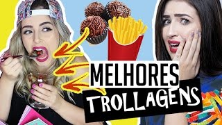 ideias de trollagem para fazer com os amigos ft bella sant   pranks for friends with food