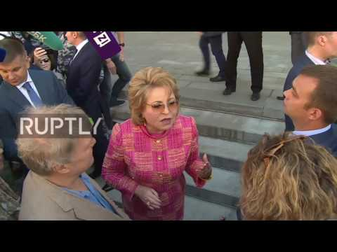 Russia: Protesters decry renovation bill at Federation Council in Moscow