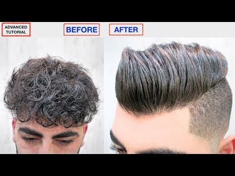 HAIR STRAIGHTENING KERATIN★MEN'S HAIRSTYLE★DRY, FRIZZY, CURLY TO STRAIGHT HAIR, HAIR STYLE VIRAL ✔️