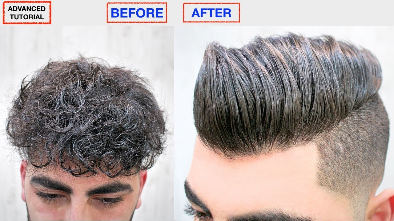 Hair Straightening Keratin Men S Hairstyle Dry Frizzy Curly To Straight Style Viral