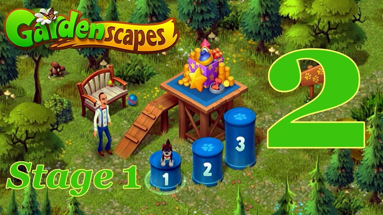 Gardenscapes Event Training Dog Level 2 Stage 1 Youtube
