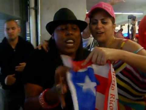 Puerto Rican Fans Celebrating Victory vs USA in the 2013 WBC @ Marlins Park  (Pt 1)